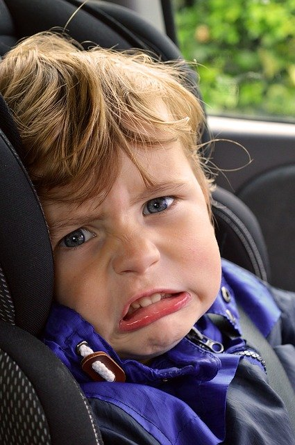 A child getting irritated due to home confinement