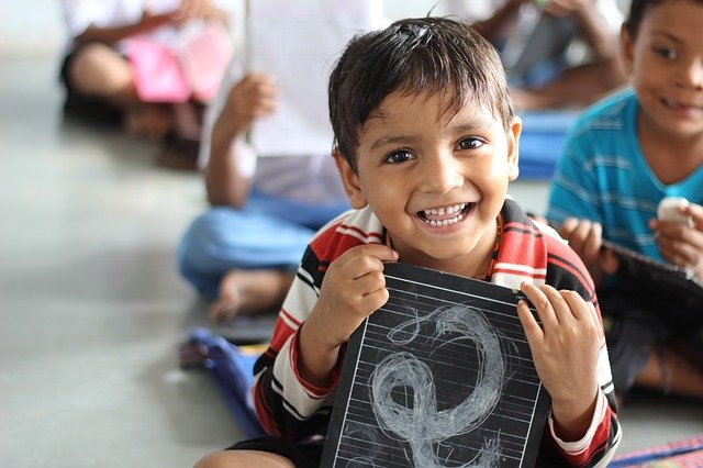 Primary schooling - A child happy being at school