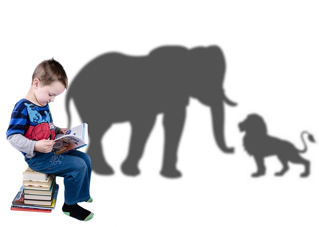 Story Reading for kids - A child imagining characters of the story