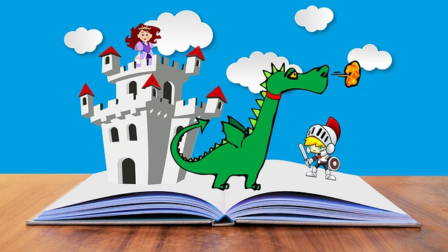 Story reading for kids- A book having three D picture